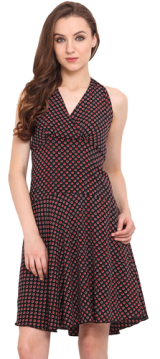 Halter Neck Dress - StyleCracker