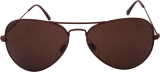 Rbee Eyeware  Aviator Sunglasses-Dark Brown - StyleCracker