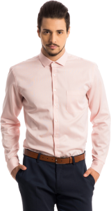 The Merchant: Peach Structured Pattern Shirt - StyleCracker