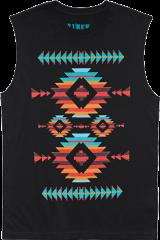Southwestern Print Muscle Tee - StyleCracker