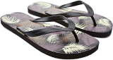 Palm Leaf Print Flip-Flops - StyleCracker