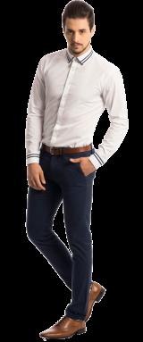 The Anchor: White Self Striped Dobby Shirt - StyleCracker