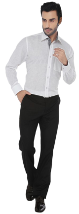 Greenfibre White Regular Fit Formal Shirt - StyleCracker