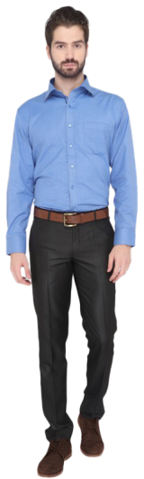 Greenfibre Blue Regular Fit Formal Shirt - StyleCracker