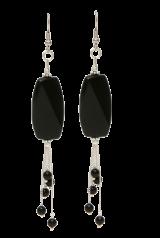 Jade Crimson Beads Silver Plated Earring - StyleCracker
