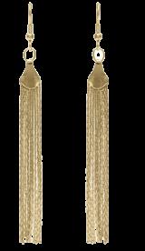 Long Chain Tassel Earrings-Gold - StyleCracker