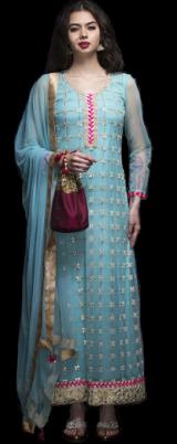 Blue gotapatti suit - StyleCracker