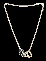 Geometric Square Necklace - StyleCracker