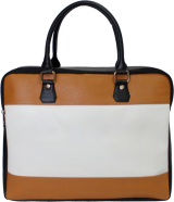 White Biennial Laptop Bag - StyleCracker