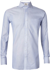 Blue Oxford White Lining Shirt - StyleCracker