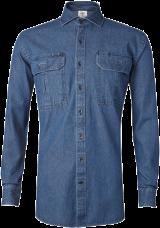 Indigo Blue Denim Outdoor Shirt - StyleCracker