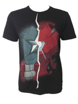 Civil War - Ironman & Captain America Black T-Shirt - StyleCracker