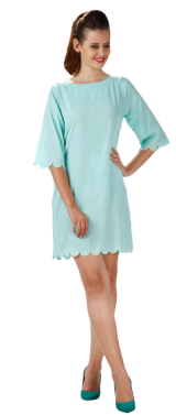 Sea Princess Scallop Dress - StyleCracker