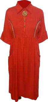 Buttoned Up Red Kurta - StyleCracker