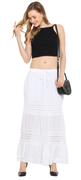 White Lace Skirt - StyleCracker