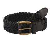 The Bro Code Black Braided Canvas Belt - StyleCracker