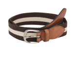 The Bro Code Multicolored Striped Canvas Belt - StyleCracker