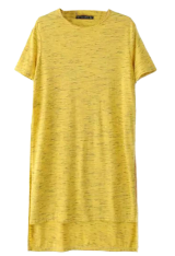 Yellow short sleeve t-shirt - StyleCracker
