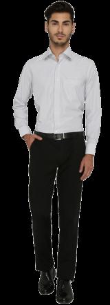 Greenfibre White Striped Regular Fit Formal Shirt - StyleCracker