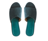 Emerald Suede Slider Flats - StyleCracker