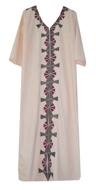 Peach Long Shirt Dress - StyleCracker