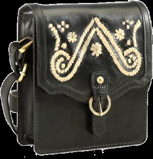 Leather Crossbody Bag-PR377-C - StyleCracker