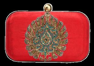 Karieshma Sarnaa - Red Mughal Clutch - StyleCracker