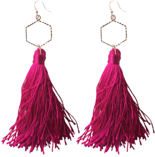 Micare - Pink Cecillia Earrings - StyleCracker