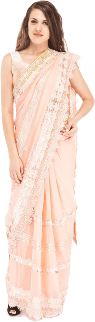 Tasneem Goenka - Sari with an Embroidered Monochromatic Blouse - StyleCracker