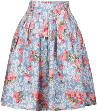 The Blue Floral Midi - StyleCracker
