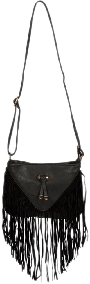Black Bow Fringe Bag - StyleCracker