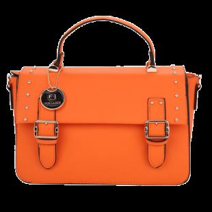 Orange Retro Hand Held Satchel - StyleCracker