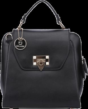 Black Bag cum Backpack - StyleCracker