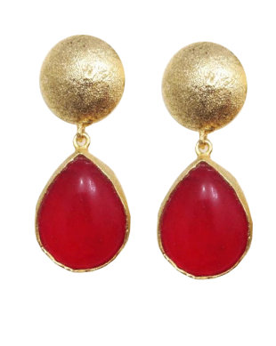 The Red Drop Earrings - StyleCracker