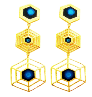 Hexagon Earrings - StyleCracker