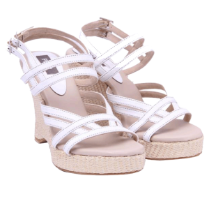 Strappy White Wedges - StyleCracker