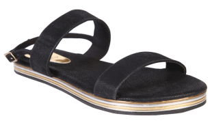 Lucy strap sandals Black - StyleCracker