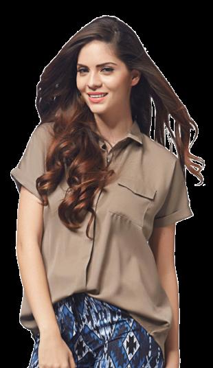 Taupe Buttondown Shirt - StyleCracker