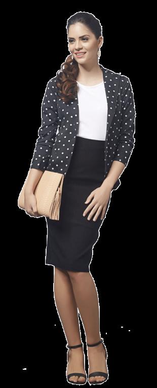 Dotted Tailored Jacket - StyleCracker