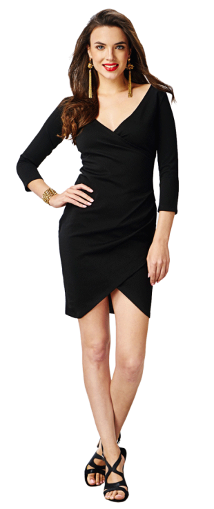 Black Ruched Bodycon Dress - StyleCracker