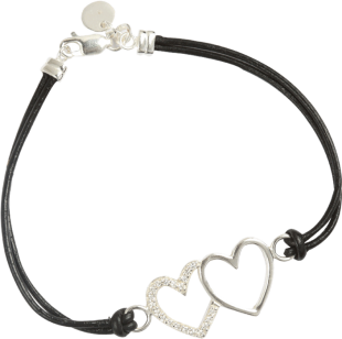 Two Hearts Cord Bracelet - StyleCracker