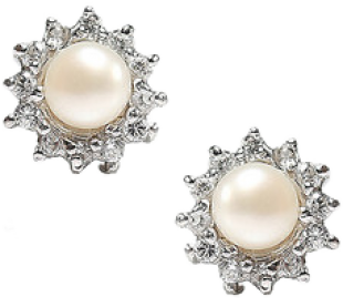 Pearl Surrounded Stud Earring - StyleCracker