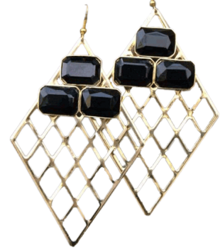 Mesh Stone Earrings - StyleCracker