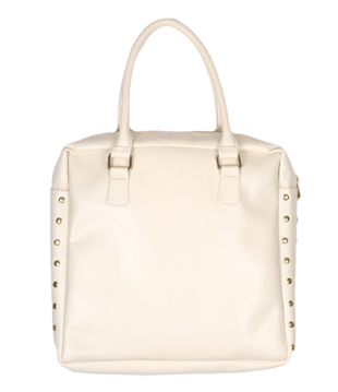 White Side Button Tote - StyleCracker