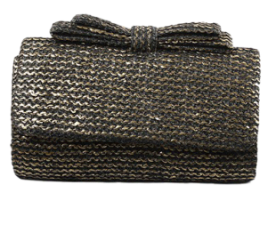 Black Jute Bow Sling - StyleCracker