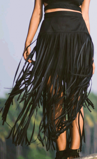 The Suede Fringe Skirt - StyleCracker