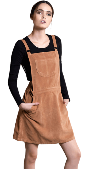 Honey Dip Dungaree Dress - StyleCracker