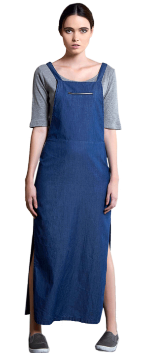 Out Of The Blue Dungaree Dress - StyleCracker