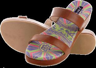 Green & Tan Paduka Chappals - StyleCracker