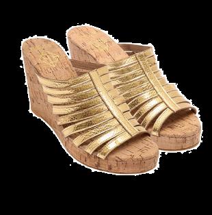 Gold LFW Strappy - StyleCracker